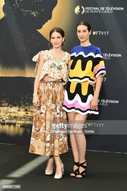 Anna Brewster and Elisa Lasowski from TV Show 'Versailles' pose for a Photocall during the 57th Monte Carlo TV Festival Day Two on June 17 2017 in...