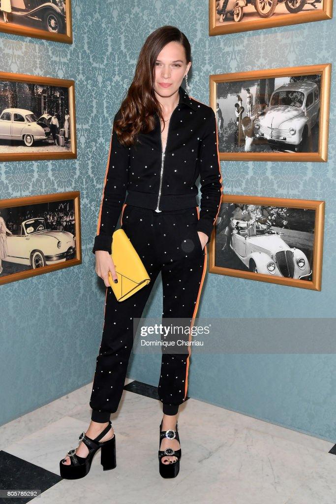 Anna Brewster attends Miu Miu Cruise Collection show as part of Haute Couture Paris Fashion Week on July 2, 2017 in Paris, France.
