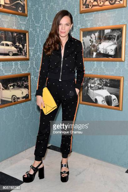 Anna Brewster attends Miu Miu Cruise Collection show as part of Haute Couture Paris Fashion Week on July 2 2017 in Paris France