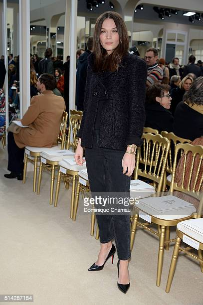 Anna Brewster attends the Chanel show as part of the Paris Fashion Week Womenswear Fall/Winter 2016/2017 on March 8 2016 in Paris France