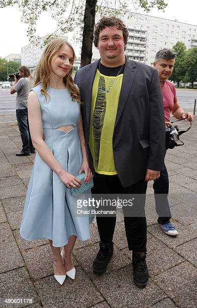 Anna Brueggemann and Daniel Zillmann attend the German premiere of the film 'Heil' at Kino International on July 13 2015 in Berlin Germany
