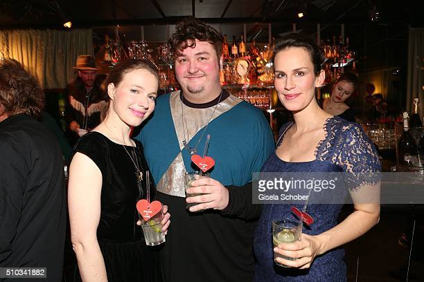 Anna Brueggemann Daniel Zillmann and Saralisa Volm during the 'Drunk In Love' Party hosted by Constantin Film and zLabels on February 14 2016 in...