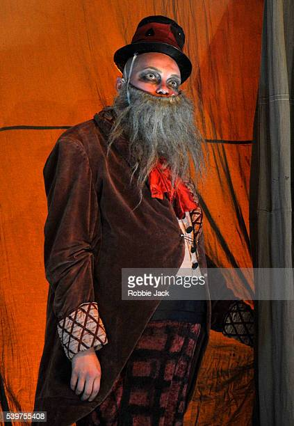 Anna Budanova as Puppet Master in Derevo's production 'Harlekin' at the Pleasance as part of the Edinburgh Festival Fringe
