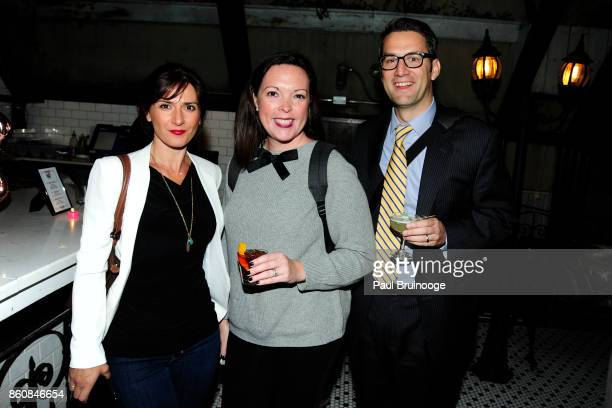 Anna Budek Kate McGee and Chris McGee attend Espolòn Tequila Hosts Celebration in Partnership with Ai Weiwei Exodus Exhibit at Hotel Chantelle on...