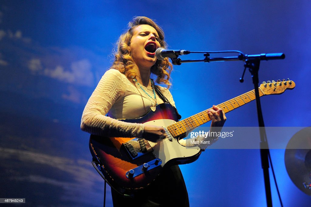 Anna Calvi performs at the Troxy on February 8 2014 in London England