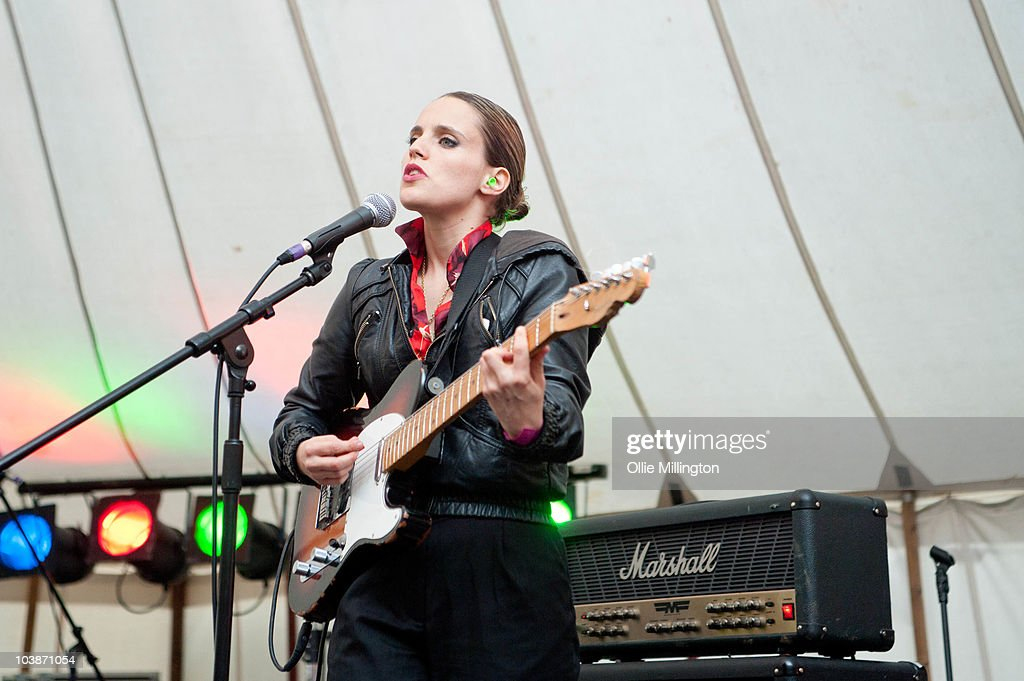 Anna Calvi performs on the White Heat stage during the second and last day of Offset Festival at Hainault Country Park on September 5, 2010 in Chigwell, England.