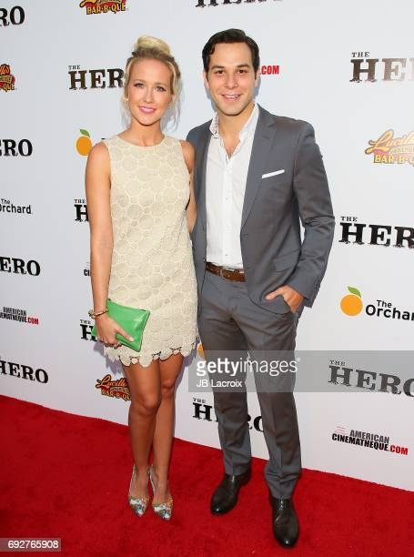 Anna Camp and Skylar Astin attend the premiere of the Orchard's 'The Hero' on June 05 2017 in Hollywood California