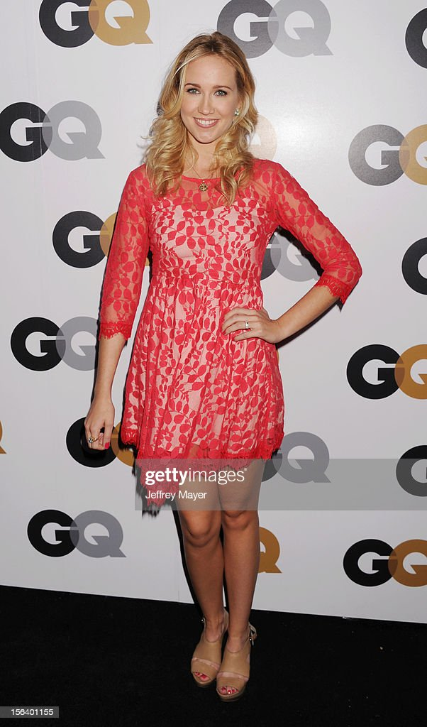 Anna Camp arrives at the GQ Men Of The Year Party at Chateau Marmont Hotel on November 13, 2012 in Los Angeles, California.