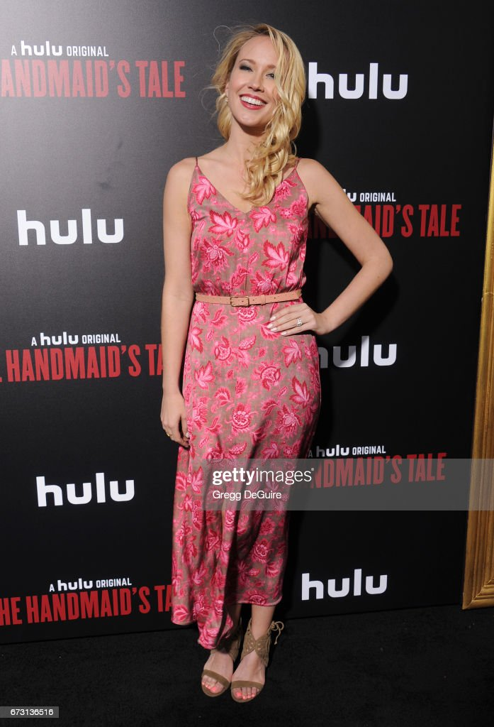 Anna Camp arrives at the premiere of Hulu's 'The Handmaid's Tale' at ArcLight Cinemas Cinerama Dome on April 25, 2017 in Hollywood, California.