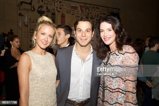 Anna Camp Skylar Astin and Bridget Regan attend the Premiere Of The Orchard's 'The Hero' After Party on June 5 2017 in Hollywood California