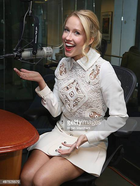 Anna Camp visits at SiriusXM Studios on November 17 2015 in New York City