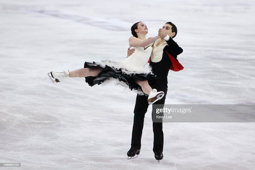 Anna Cappellini and Luca Lanotte compete during the Ice Dance Short Program on November 7 2014 in Shanghai China