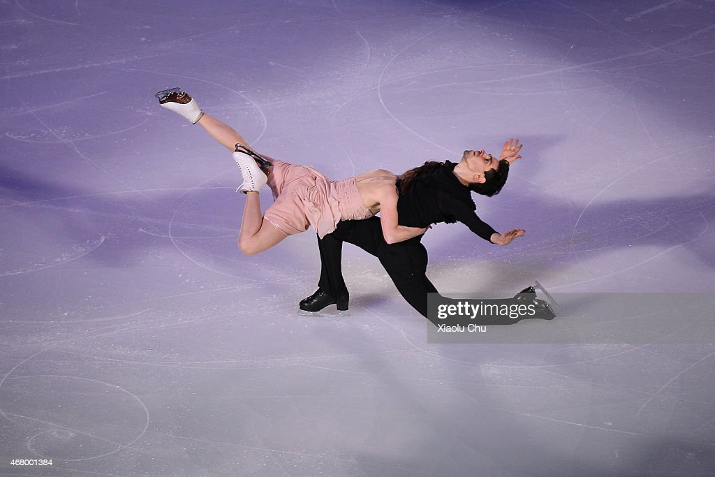 Anna Cappellini and Luca Lanotte of Italia perform during the Exhibition Program on day five of the 2015 ISU World Figure Skating Championships at...