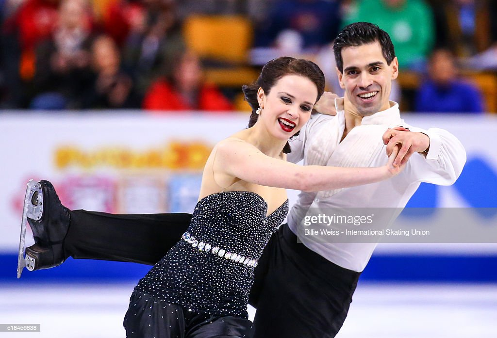Anna Cappellini and Luca Lanotte of Italy compete during Day 4 of the ISU World Figure Skating Championships 2016 at TD Garden on March 31 2016 in...