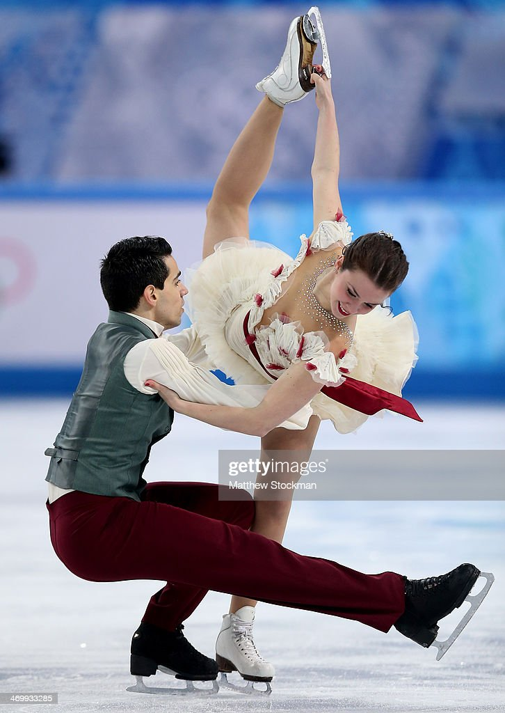 Anna Cappellini and Luca Lanotte of Italy compete in the Figure Skating Ice Dance Free Dance on Day 10 of the Sochi 2014 Winter Olympics at Iceberg...