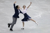 Anna Cappellini and Luca Lanotte of Italy compete in the Ice Dance Short Dance during day two of the ISU Grand Prix of Figure Skating Final 2013/2014...