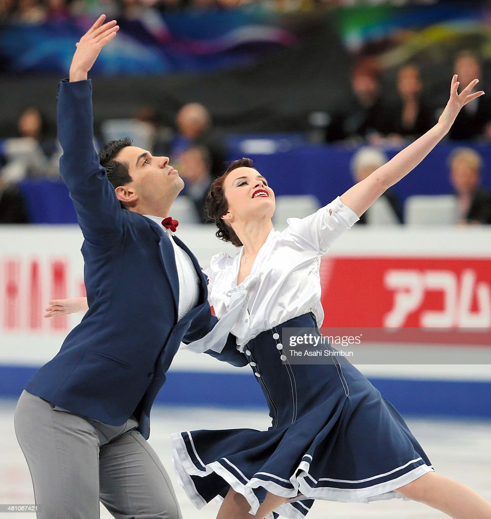 Anna Cappellini and Luca Lanotte of Italy compete in the Ice Dance Short Dance during day three of the ISU World Figure Skating Championships at...