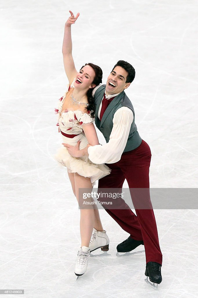 Anna Cappellini and Luca Lanotte of Italy compete in the Ice Dance Free Dance during ISU World Figure Skating Championships at Saitama Super Arena on...