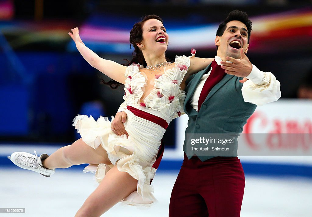 Anna Cappellini and Luca Lanotte of Italy compete in the Ice Dance Free Dance during the ISU World Figure Skating Championships at Saitama Super...