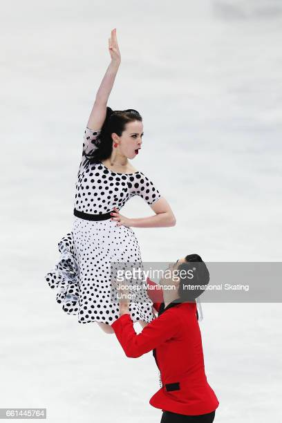 Anna Cappellini and Luca Lanotte of Italy compete in the Ice Dance Short Dance during day three of the World Figure Skating Championships at Hartwall...