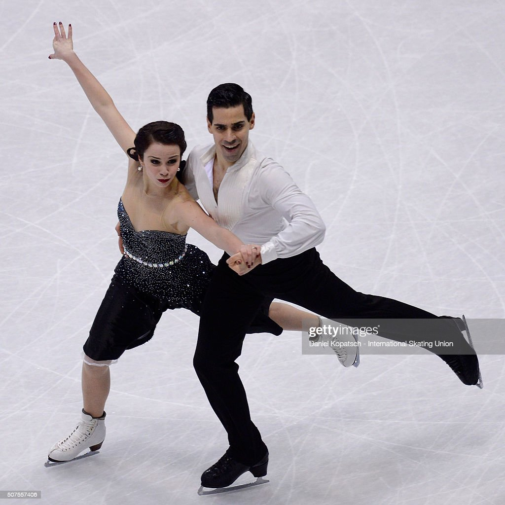 Anna Cappellini and Luca Lanotte of Italy perform during Ice Dance Free Dance on day four of the ISU European Figure Skating Championships 2016 on...