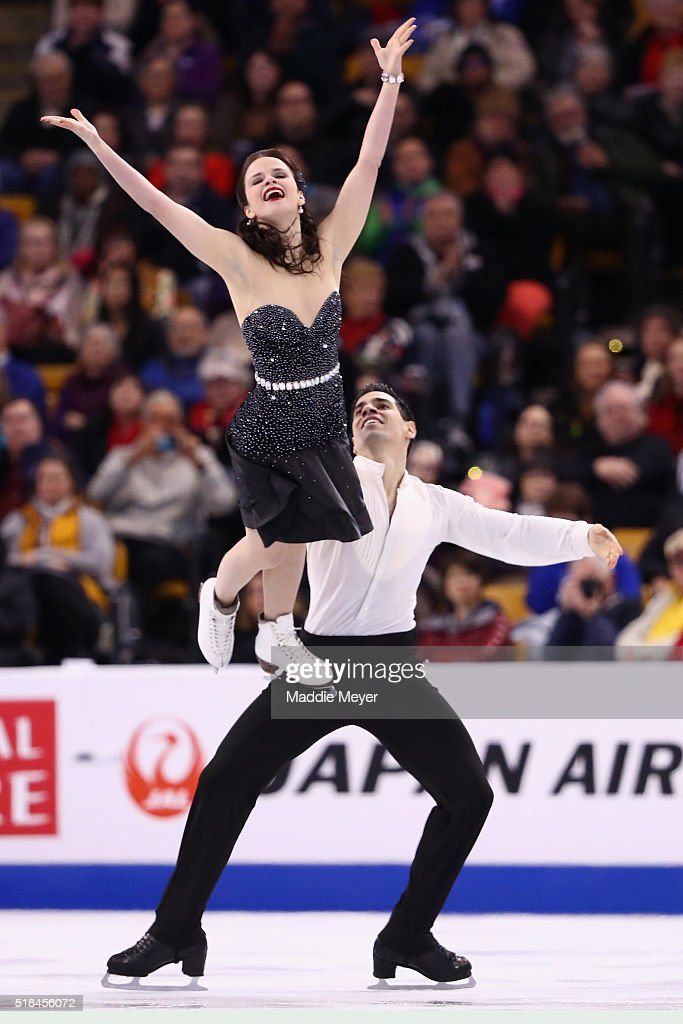 Anna Cappellini and Luca Lanotte of Italy skate in Free Dance Program during Day 4 of the ISU World Figure Skating Championships 2016 at TD Garden on...