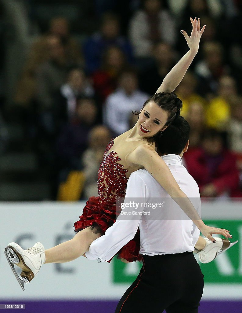 Anna Cappellini and Luca Lanotte of Italy skate in the Ice Dance Free Dance Program during the 2013 ISU World Figure Skating Championships at Budweiser Gardens on March 16, 2013 in London, Ontario, Canada.