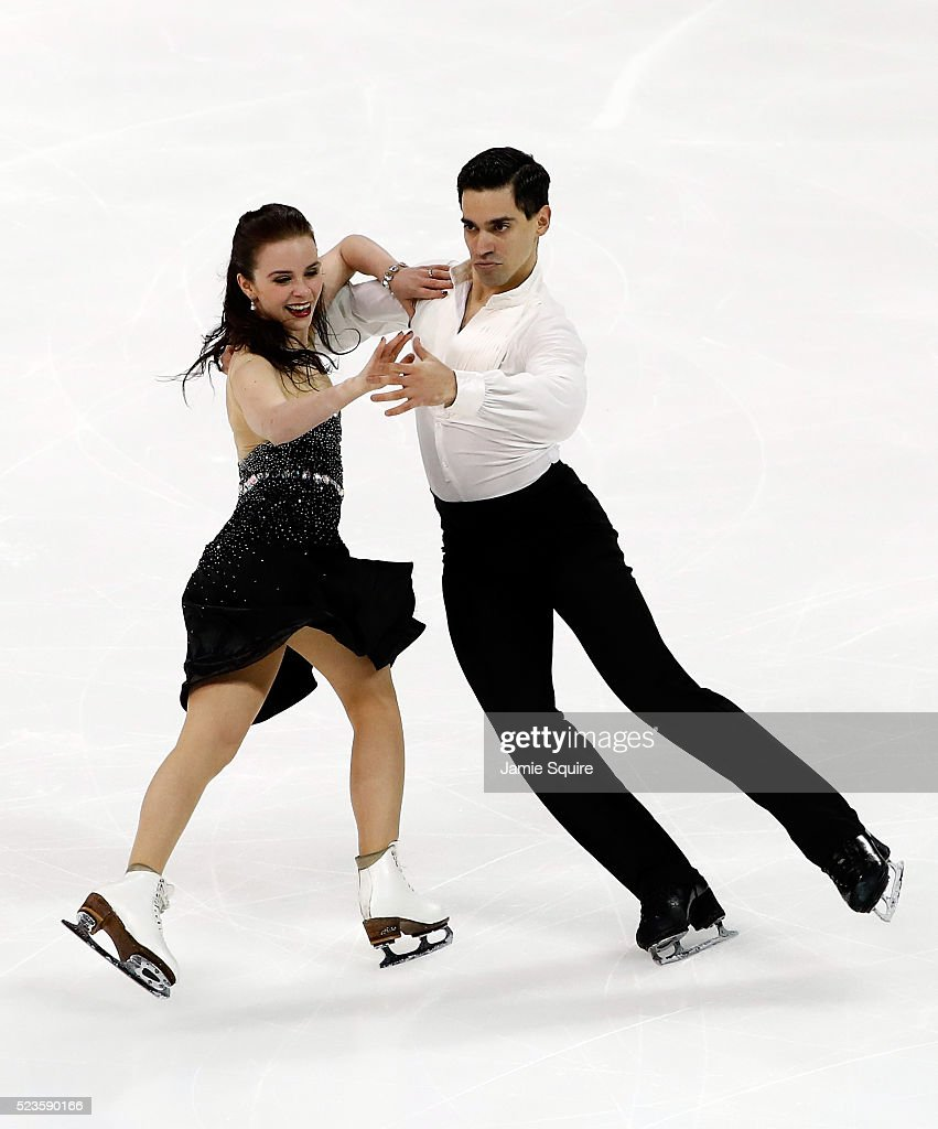 Anna Cappellini and Luca Lanotte of Team Europe compete in their Free Dance routine on day 2 of the 2016 KOSE Team Challenge Cup at Spokane Arena on...