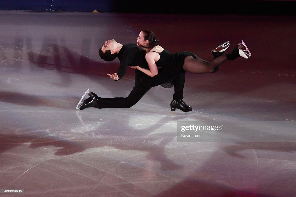 Anna Cappellini and Luca Lanotte perform their routine in the ISU Gala during day three of the Lexus Cup of China 2014 at Oriental Sport Center on...