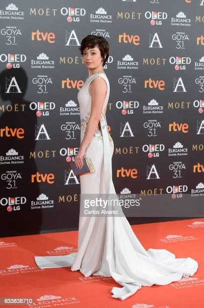 Anna Castillo attends Goya Cinema Awards 2017 at Madrid Marriott Auditorium on February 4 2017 in Madrid Spain