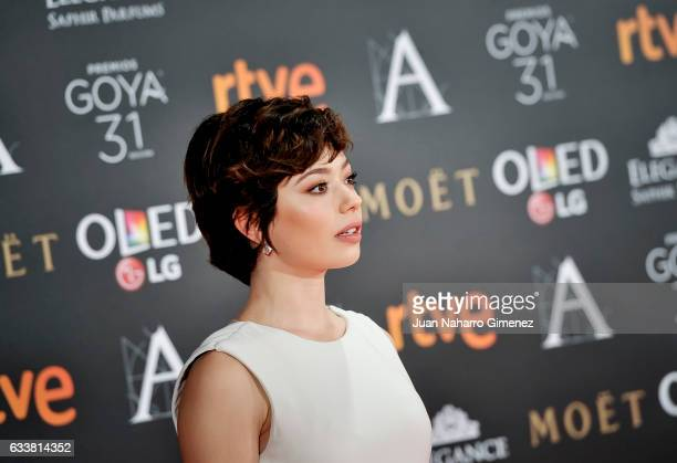 Anna Castillo attends the 31st edition of the 'Goya Cinema Awards' ceremony at Madrid Marriott Auditorium on February 4 2017 in Madrid Spain