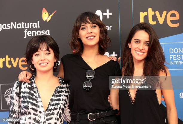 Anna Castillo Belen Cuesta and Macarena Garcia attend the presentation of San Sebastian Film Festival 2017 programme on July 28 2017 in Madrid Spain
