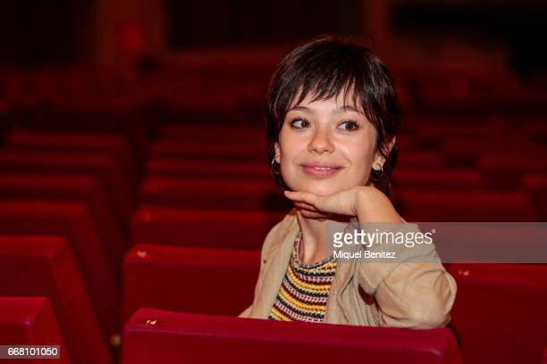Anna Castillo poses during a presentation for her latest theater production 'Drac Pack' at the Theater Tivoli on April 13 2017 in Barcelona Spain