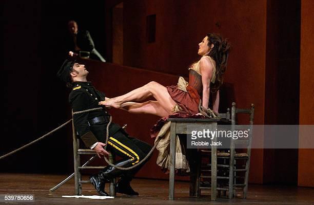Anna Caterina Antonacci and Jonas Kaufmannn in the Royal Opera's production 'Carmen' Composer Georges Bizet