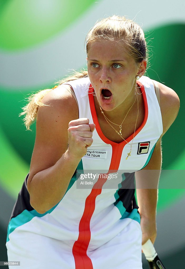 <a gi-track='captionPersonalityLinkClicked' href=/galleries/search?phrase=Anna+Chakvetadze&family=editorial&specificpeople=220381 ng-click='$event.stopPropagation()'>Anna Chakvetadze</a> of Russia reacts after a point against Kimiko Date Krumm of Japan during day two of the 2010 Sony Ericsson Open at Crandon Park Tennis Center on March 24, 2010 in Key Biscayne, Florida.