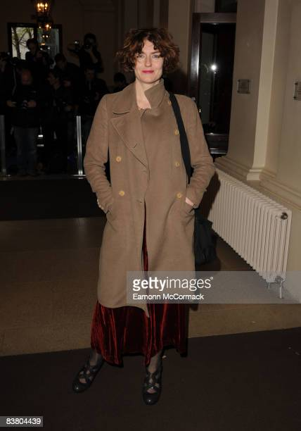 Anna Chancellor attends the Evening Standard Theatre Awards at Royal Opera House on November 24 2008 in London England