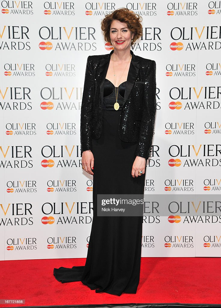 Anna Chancellor attends The Laurence Olivier Awards at The Royal Opera House on April 28, 2013 in London, England.