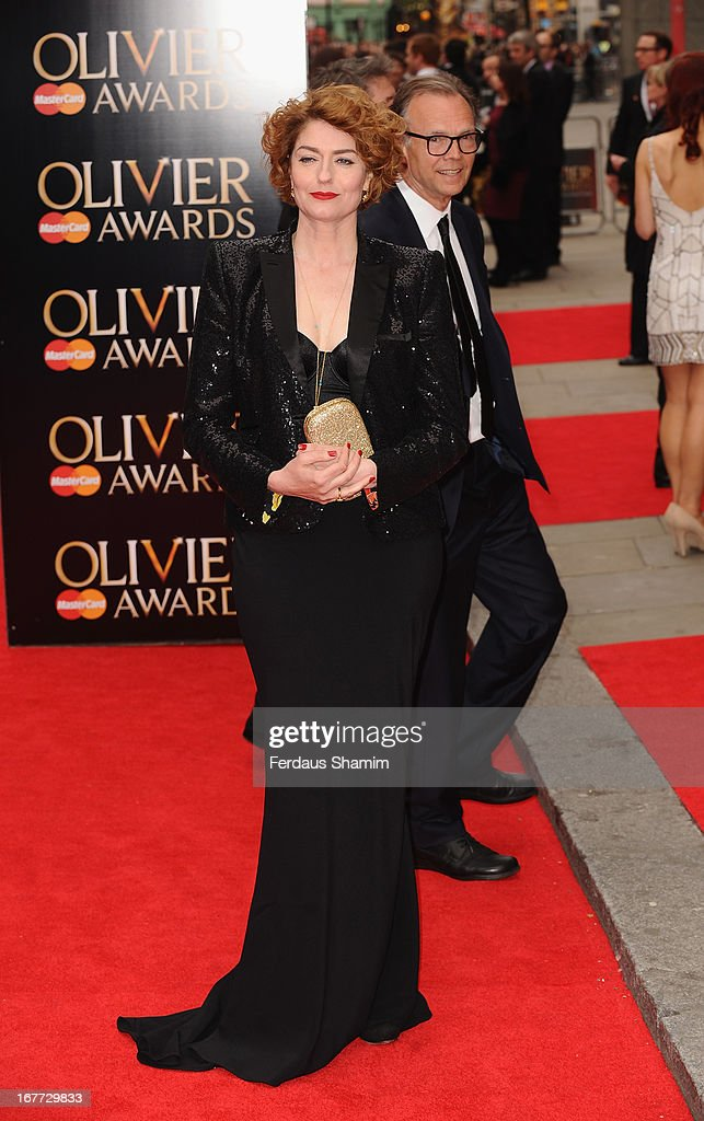 Anna Chancellor attends The Laurence Olivier Awards at The Royal Opera House on April 28, 2013 sLondon, England.