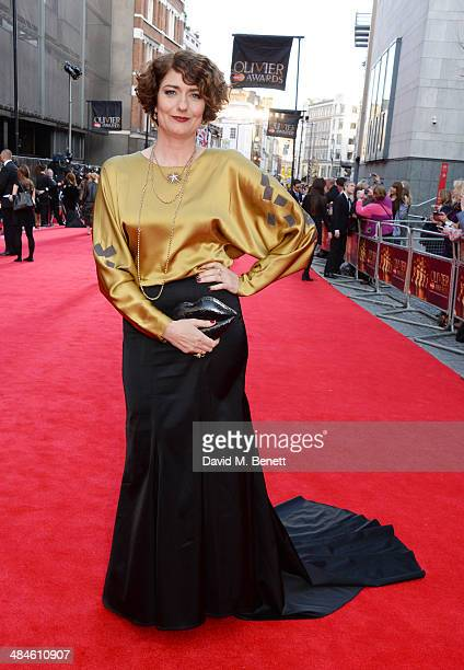 Anna Chancellor attends the Laurence Olivier Awards at The Royal Opera House on April 13 2014 in London England