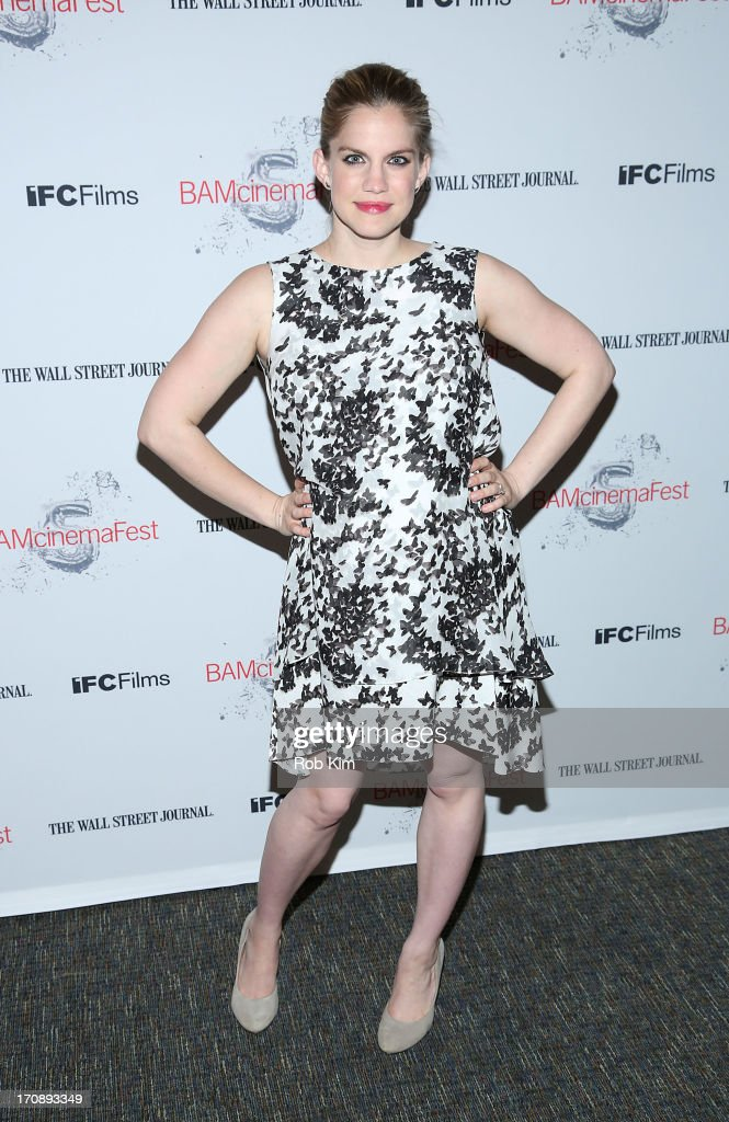 Anna Chlumsky attends BAMcinemaFest 2013 And The Cinema Society Host The Opening Night Premiere Of 'Ain't Them Bodies Saints' at BAM Harvey Theater...