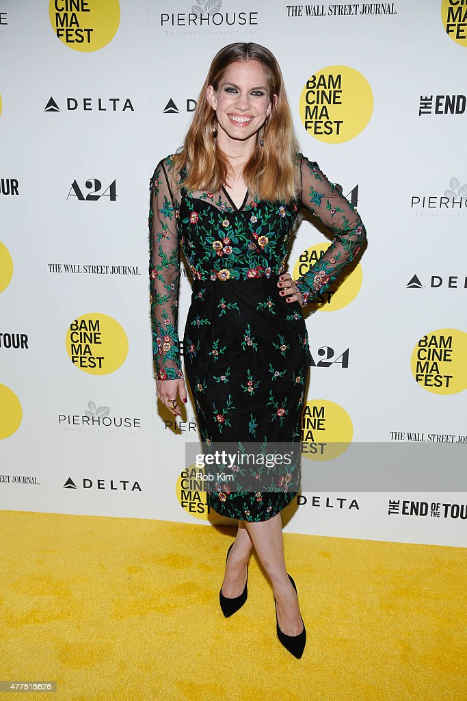 Anna Chlumsky attends BAMcinemaFest 2015 'The End Of The Tour' opening night screening at BAM Howard Gilman Opera House on June 17 2015 in New York...