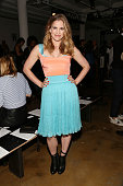 Anna Chlumsky attends Sophie Theallet runway show during MADE Fashion Week Spring 2015 at Milk Studios on September 9 2014 in New York City