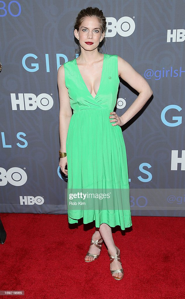 Anna Chlumsky attends the HBO 'Girls' season 2 premiere at the NYU Skirball Center on January 9, 2013 in New York City.
