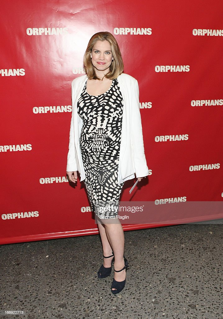 Anna Chlumsky attends the 'Orphans' Broadway Opening Night at the Gerald Schoenfeld Theatre on April 18, 2013 in New York City.