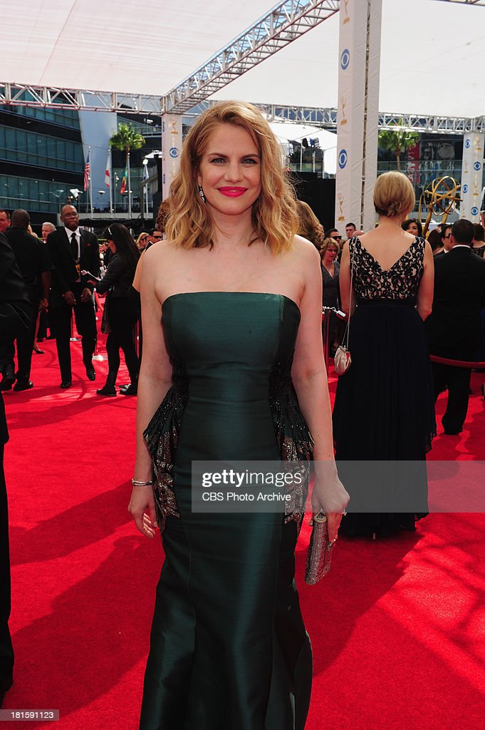 Anna Chlumsky from Veep on the red carpet for the 65th Primetime Emmy Awards,  which will be broadcast live across the country 8:00-11:00 PM ET/ 5:00-8:00 PM PT from NOKIA Theater L.A. LIVE in Los Angeles, Calif., on Sunday, Sept. 22 on the CBS Television Network.