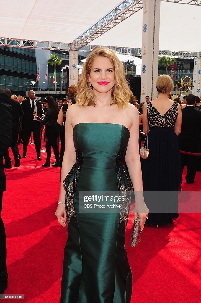 Anna Chlumsky from Veep on the red carpet for the 65th Primetime Emmy Awards,  which will be broadcast live across the country 8:00-11:00 PM ET/ 5:00-8:00 PM PT from NOKIA Theater L.A. LIVE in Los Angeles, Calif., on Sunday, Sept. 22 on the CBS Television Network.