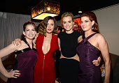 Anna Chlumsky Rose Byrne Taylor Schilling and Debra Messing attend the 2015 Tony Awards at Radio City Music Hall on June 7 2015 in New York City