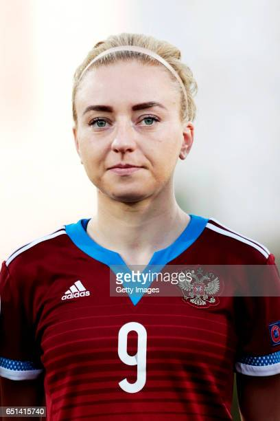 Anna Cholovyaga of Russia during the Algarve Cup Tournament Match between Sweden W and Russia W on March 8 2017 in Albufeira Portugal