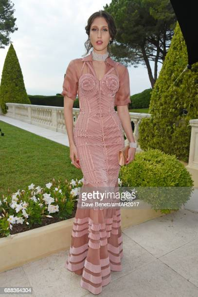 Anna Cleveland arrives at the amfAR Gala Cannes 2017 at Hotel du CapEdenRoc on May 25 2017 in Cap d'Antibes France