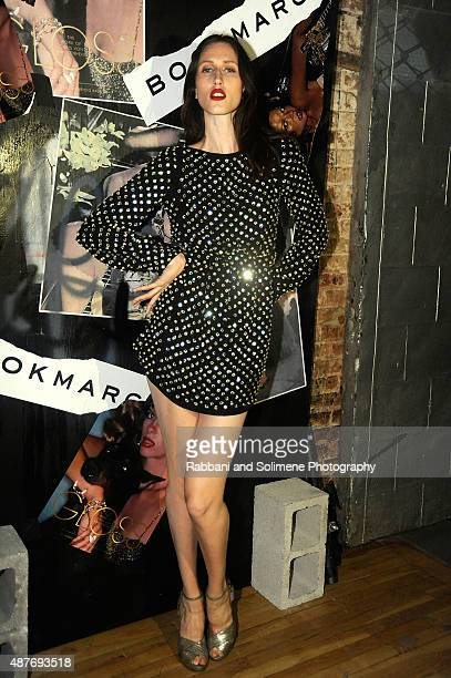 Anna Cleveland attends 'Gloss The Work Of Chris Von Wangenheim' Book Launch Party at The Tunnel on September 10 2015 in New York City